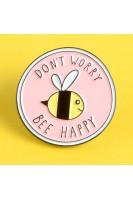 Брошь. Пчела. Не переживай будь счастлив