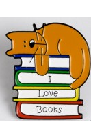 Брошь. Я люблю книги
